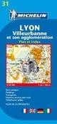 Lyon. Villeurbanne et son agglomération. Plan et index 1:10.000