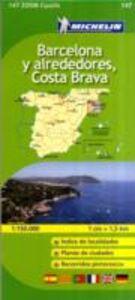 Libro Barcellona-Costa Brava 1:150.000. Ediz. multilingue