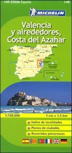 Valencia y alrededores, Costa del Azahar 1:150.000. Ediz. multilingue - copertina