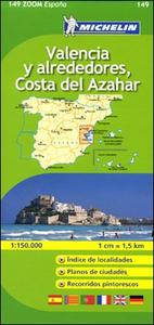 Libro Valencia y alrededores, Costa del Azahar 1:150.000. Ediz. multilingue