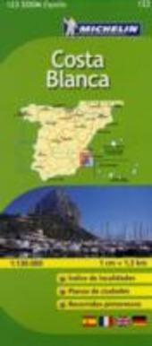 Costa Blanca 1:130.000. Ediz. multilingue