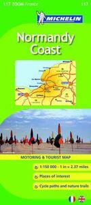 Libro Normandy Coast 1:150.000. Ediz. inglese e francese