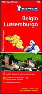 Foto Cover di Belgio, Lussemburgo 1:350.000, Libro di  edito da Michelin Italiana