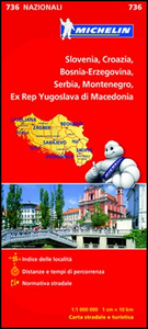 Libro Slovenia, Croazia, Bosnia-Erzegovina, Serbia, Montenegro, Ex Rep Yugoslava di Macedonia 1:1 000 000