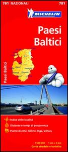 Libro Paesi baltici 1:500.000