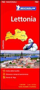 Foto Cover di Lettonia 1:350.000, Libro di  edito da Michelin Italiana