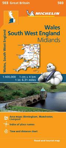 Libro Wales, South West England, Midlands 1:400.000