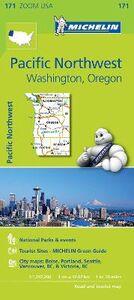 Libro Pacific Northwest. Washington, Oregon 1:1.267.200
