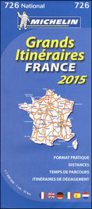 France. Grands itinéraires-France route planning. 2015 1:1.000.000 - copertina