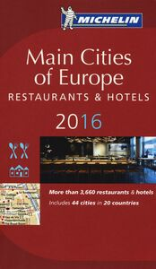 Libro Main cities of Europe 2016. Restaurants & hotels