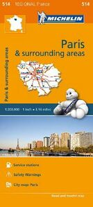 Libro Paris & surrounding areas-Île-de-France & surrounding areas 1:200.000