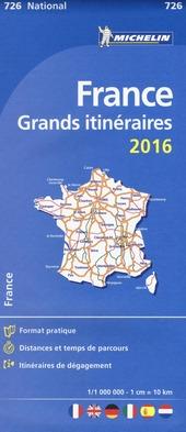 France. Grands itinéraires 1:1.000.000