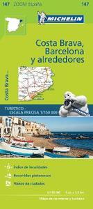 Costa Brava, Barcelona y alrededores 1:150.000   - copertina