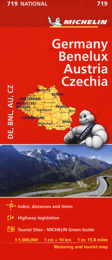 Germany. Benelux. Austria. Czechia 1:1.000.000