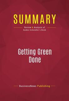 Summary: Getting Green Done