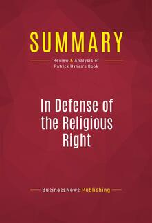 Summary: In Defense of the Religious Right