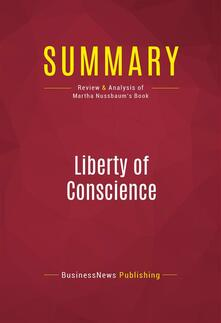Summary: Liberty of Conscience