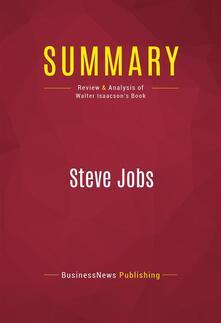 Summary: Steve Jobs