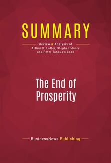 Summary: The End of Prosperity