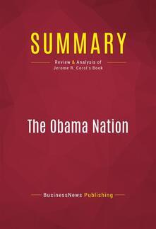 Summary: The Obama Nation