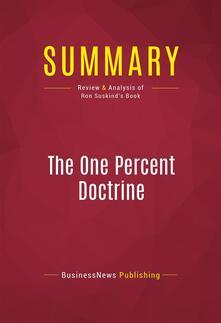 Summary: The One Percent Doctrine