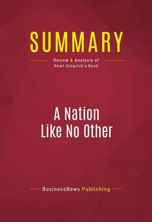 Summary: A Nation Like No Other