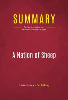 Summary: A Nation of Sheep