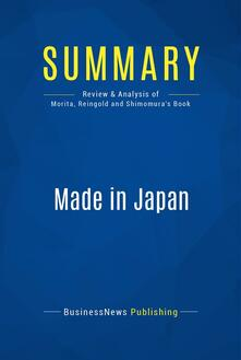 Summary: Made in Japan