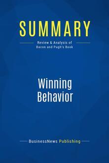 Summary: Winning Behavior