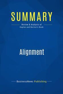 Summary: Alignment