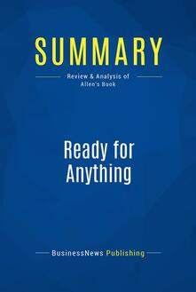 Summary: Ready for Anything