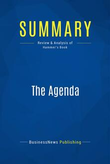 Summary: The Agenda