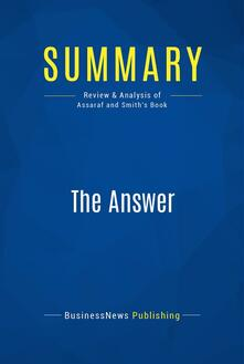 Summary: The Answer