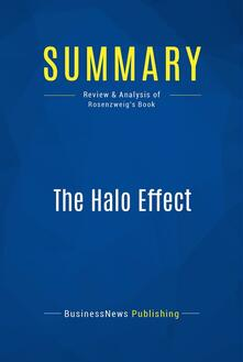 Summary: The Halo Effect