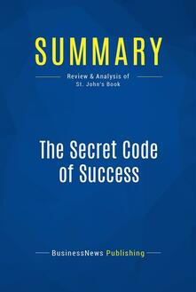 Summary: The Secret Code of Success
