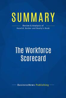 Summary: The Workforce Scorecard