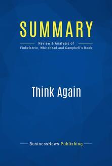 Summary: Think Again