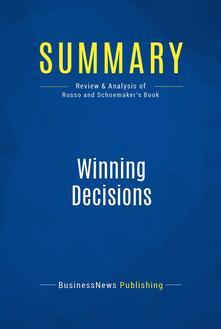 Summary: Winning Decisions