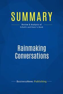 Summary: Rainmaking Conversations