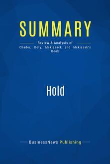 Summary: Hold