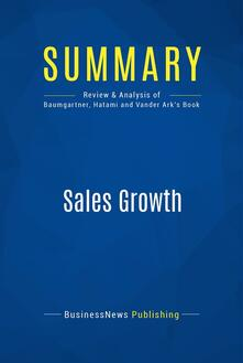 Summary: Sales Growth