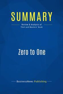 Summary: Zero to One