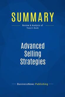 Summary: Advanced Selling Strategies