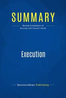 Summary: Execution