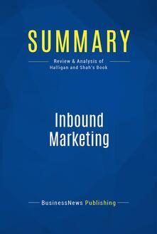 Summary: Inbound Marketing
