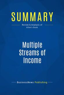 Summary: Multiple Streams of Income