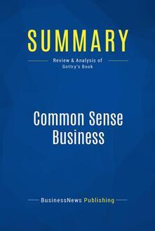 Summary: Common Sense Business