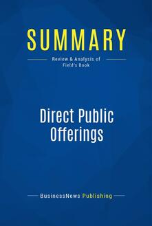 Summary: Direct Public Offerings