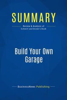 Summary: Build Your Own Garage