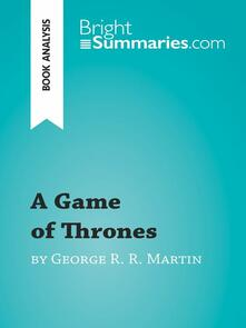 A Game of Thrones by George R. R. Martin (Book Analysis)